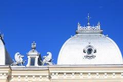 屋顶-历史的建筑学 库存照片