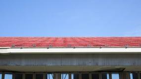 屋顶水平线  库存图片