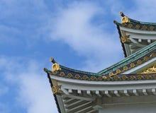 屋顶细节,大阪城堡 库存照片