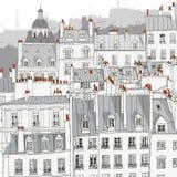 巴黎屋顶 免版税库存图片