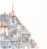 巴黎屋顶 皇族释放例证