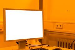 屏幕印刷装置发展黄色室专家我 图库摄影