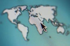屏幕地图 库存图片