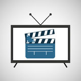 屏幕电视电影拍板影片 免版税库存图片