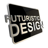屏幕计算机垫作为一个未来派设计 免版税图库摄影
