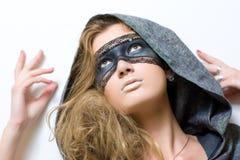 屏蔽妇女年轻人 免版税库存图片