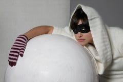 屏蔽妇女 免版税库存图片