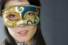 屏蔽威尼斯式佩带的妇女 图库摄影