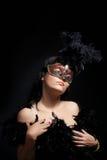 屏蔽性感的妇女 图库摄影