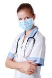 屏蔽护士听诊器 免版税库存图片