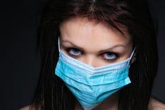 屏蔽护士年轻人 库存图片
