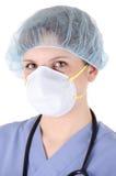 屏蔽护士年轻人 免版税库存照片