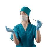 屏蔽护士 库存图片