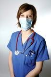屏蔽护士 免版税图库摄影