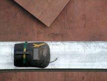 屏蔽焊工工地 免版税库存图片