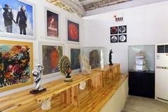 画展大厅在redtory创造性的庭院,广州,瓷里 免版税库存照片