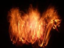 展开火焰 库存图片