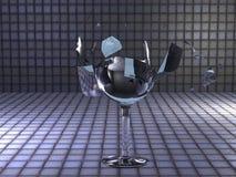 展开的玻璃 免版税库存图片