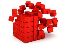 展开的红色配件箱 库存例证