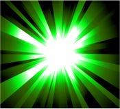 展开绿色光芒 向量例证