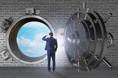 展望与乐观的未来的商人 免版税图库摄影