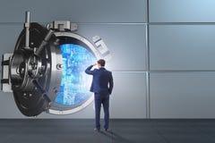 展望与乐观的未来的商人 免版税库存图片