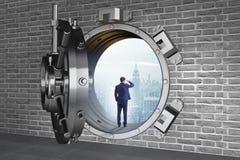 展望与乐观的未来的商人 免版税库存照片
