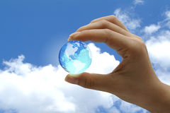 展望期新的世界 免版税库存图片