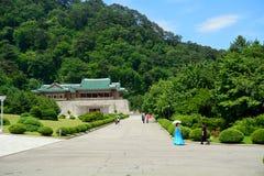 展示厅, Myohyang山,北朝鲜 库存图片