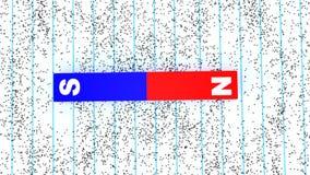 展示域归档强制铁线路磁性次幂 库存例证