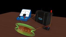 展示域归档强制铁线路磁性次幂 向量例证