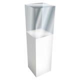 展览的空的玻璃陈列室 3d向量 皇族释放例证