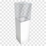 展览的空的玻璃陈列室 3d向量 库存例证