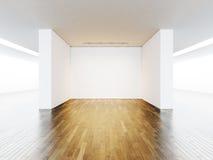 展览的,在墙壁的灯空的空间 免版税库存图片