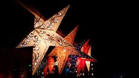 屠妖节的星灯笼 库存照片