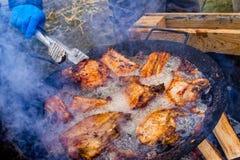 屠户国际性组织露天烹饪节日Trans的 免版税库存图片