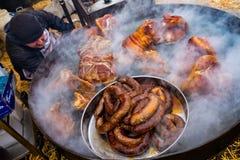 屠户国际性组织露天烹饪节日Trans的 免版税图库摄影