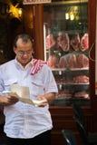 屠户熟食店罗马,意大利 免版税库存图片