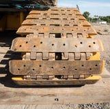 履带牵引装置轮子的铁 免版税库存图片