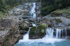 山、谷和峰顶环境美化,自然环境 阿尔卑斯高涨 免版税库存图片