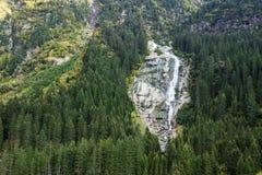 山、谷和峰顶环境美化,自然环境 阿尔卑斯高涨 图库摄影