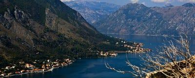 黑山。科托尔海湾 库存照片