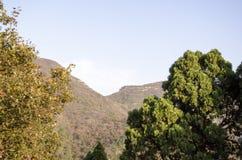 山上方山黄色山,中国的全球性Geopark 库存照片