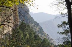 山上方山黄色山,中国的全球性Geopark 图库摄影