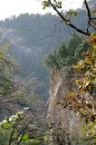 山上方山黄色山,中国的全球性Geopark 免版税库存图片