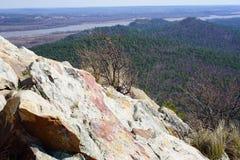 从山上面的看法 库存照片