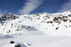 山下了雪 免版税库存图片