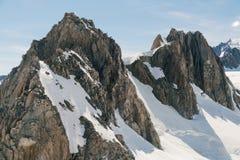 山与雪盖,新西兰的厨师峰顶 库存图片