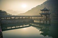 山东青州黄色花溪风景 免版税库存照片