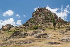 山中世纪Markovi Kuli的藏品废墟防御 库存图片